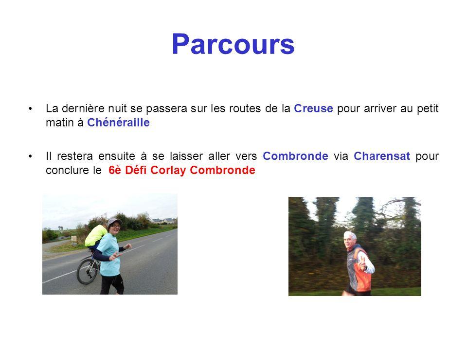 Parcours La dernière nuit se passera sur les routes de la Creuse pour arriver au petit matin à Chénéraille.