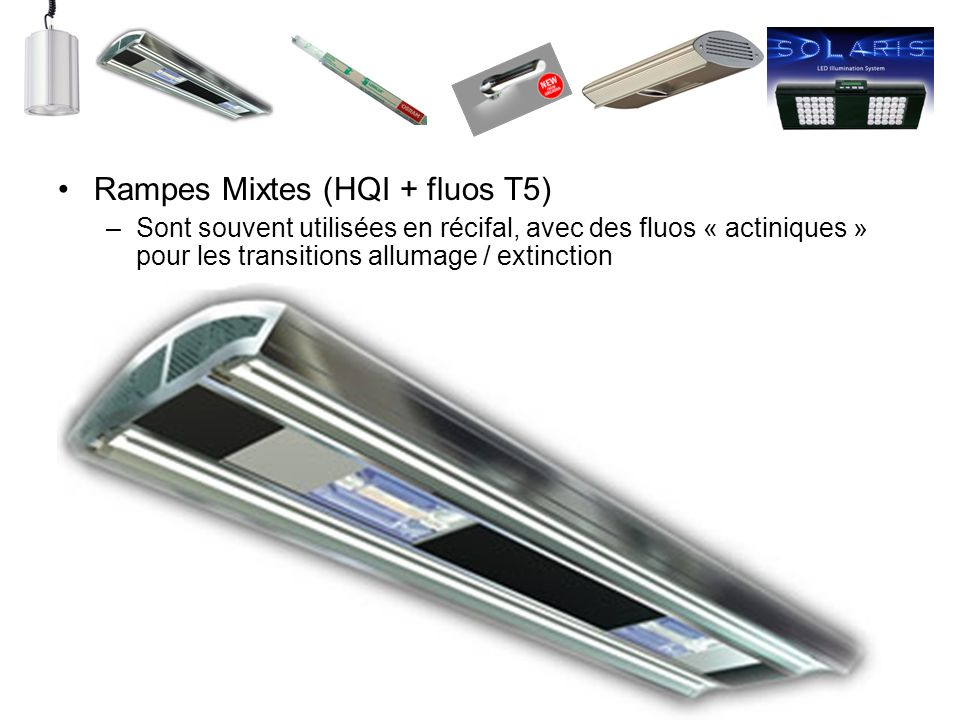 Rampes Mixtes (HQI + fluos T5)
