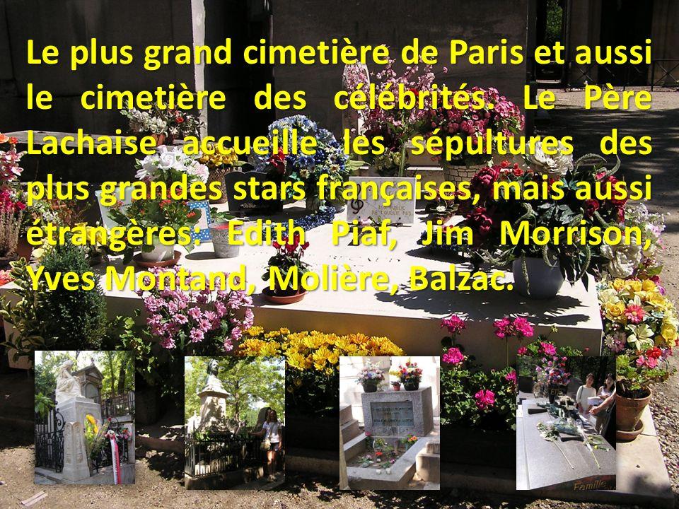 Le plus grand cimetière de Paris et aussi le cimetière des célébrités