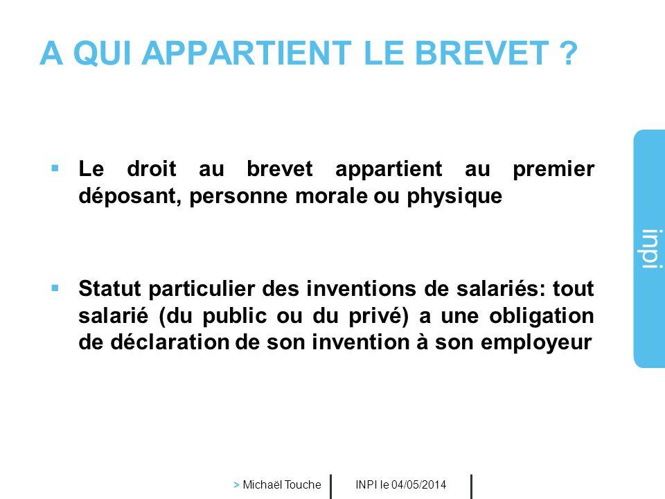 A QUI APPARTIENT LE BREVET