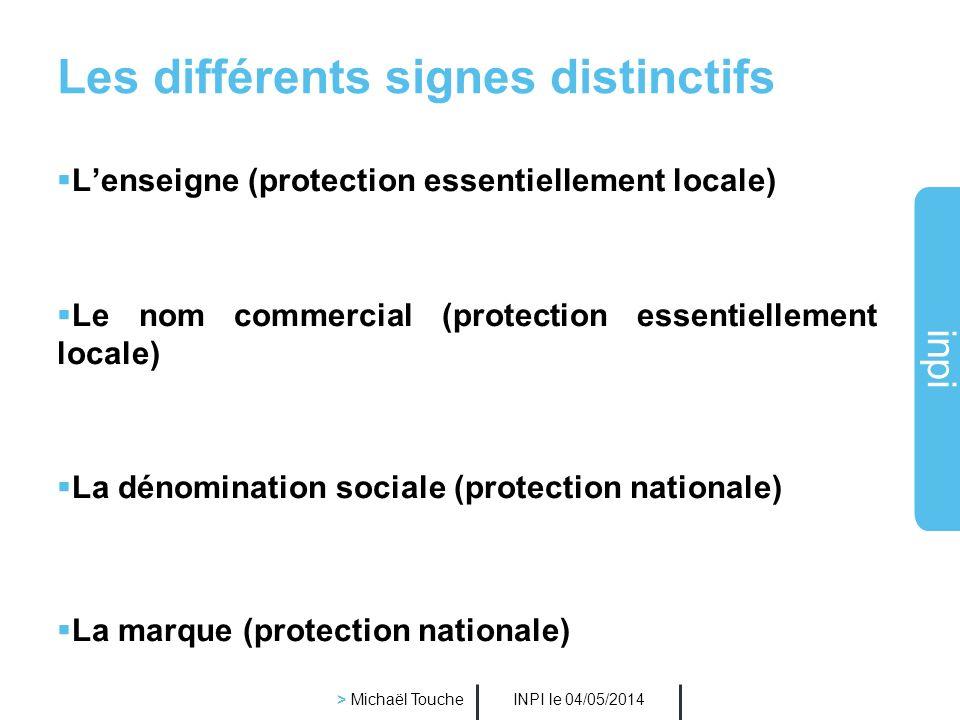 Les différents signes distinctifs