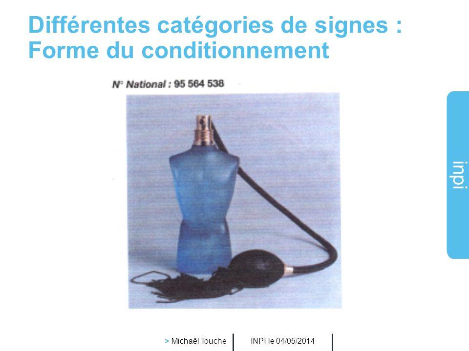 Différentes catégories de signes : Forme du conditionnement