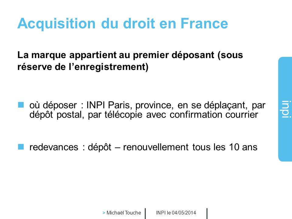 Acquisition du droit en France