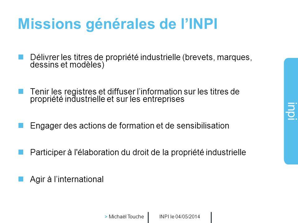 Missions générales de l'INPI