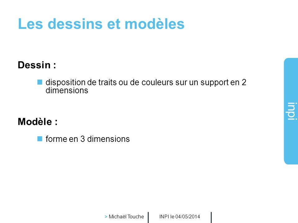 Les dessins et modèles Dessin : Modèle :