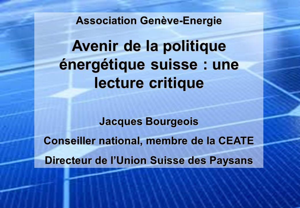 Avenir de la politique énergétique suisse : une lecture critique