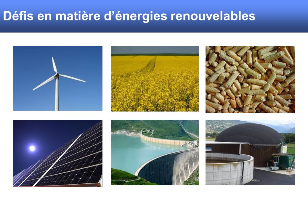 Défis en matière d'énergies renouvelables