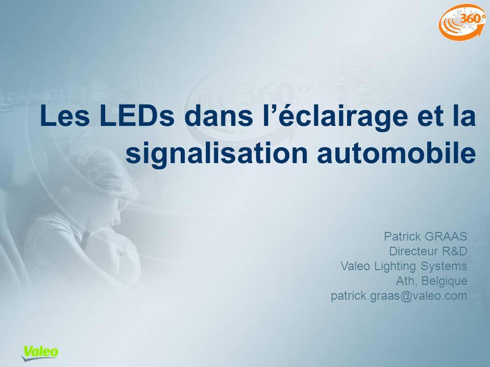 Les LEDs dans l'éclairage et la signalisation automobile
