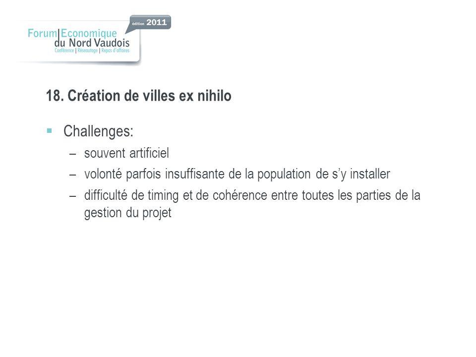 18. Création de villes ex nihilo