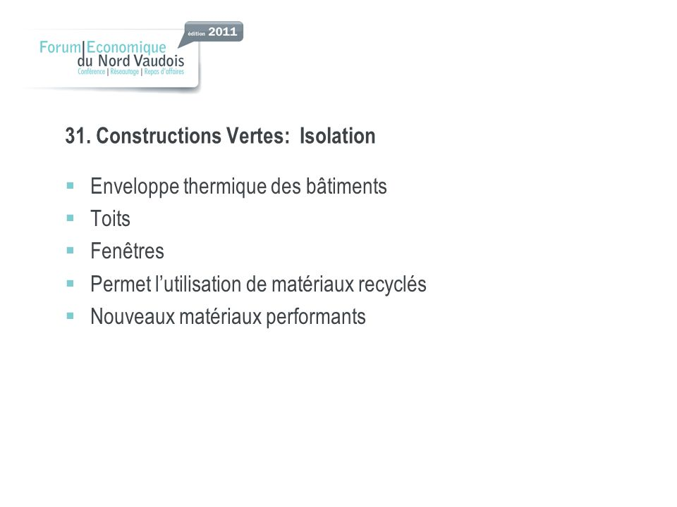31. Constructions Vertes: Isolation