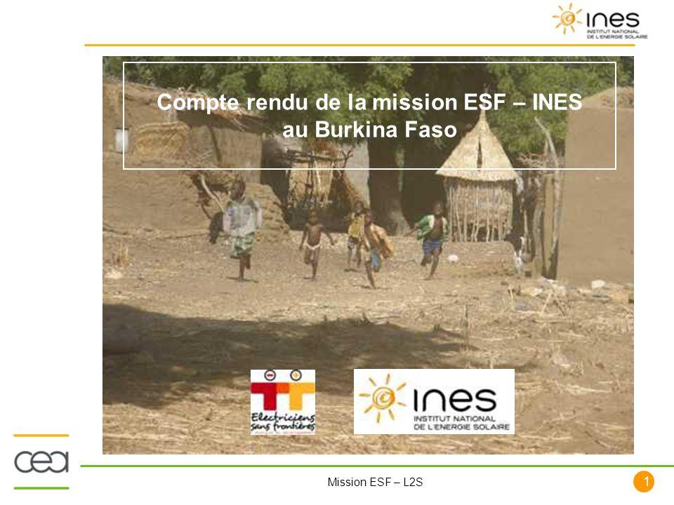 Compte rendu de la mission ESF – INES