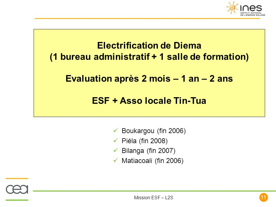 Electrification de Diema