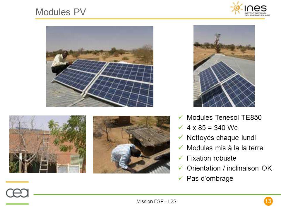 Modules PV Modules Tenesol TE850 4 x 85 = 340 Wc Nettoyés chaque lundi