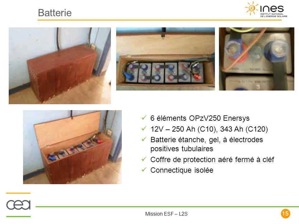 Batterie 6 éléments OPzV250 Enersys 12V – 250 Ah (C10), 343 Ah (C120)