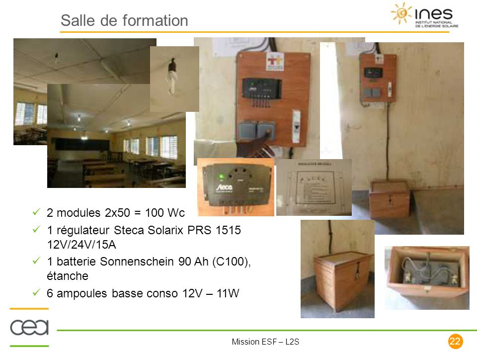 Salle de formation 2 modules 2x50 = 100 Wc