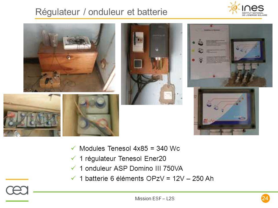 Régulateur / onduleur et batterie