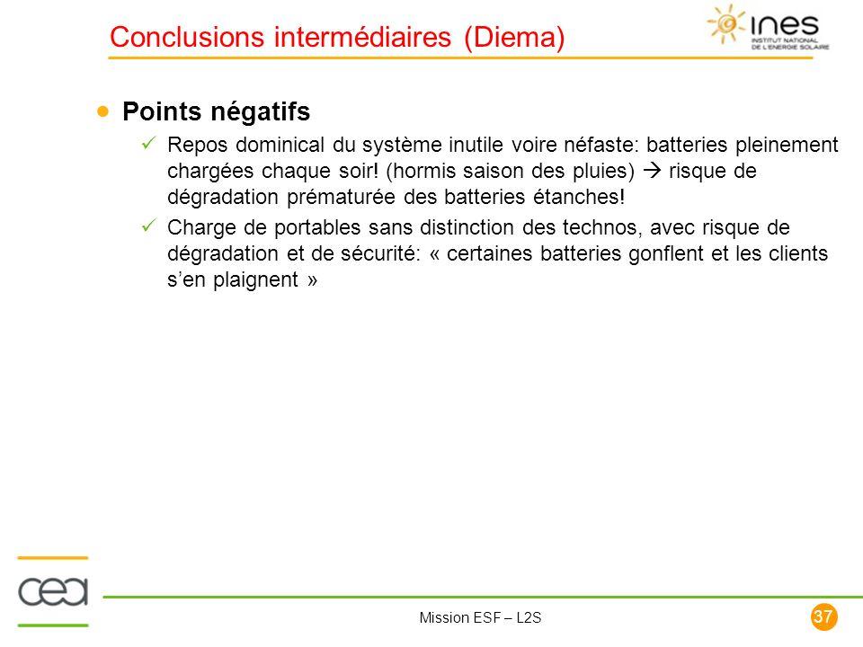Conclusions intermédiaires (Diema)