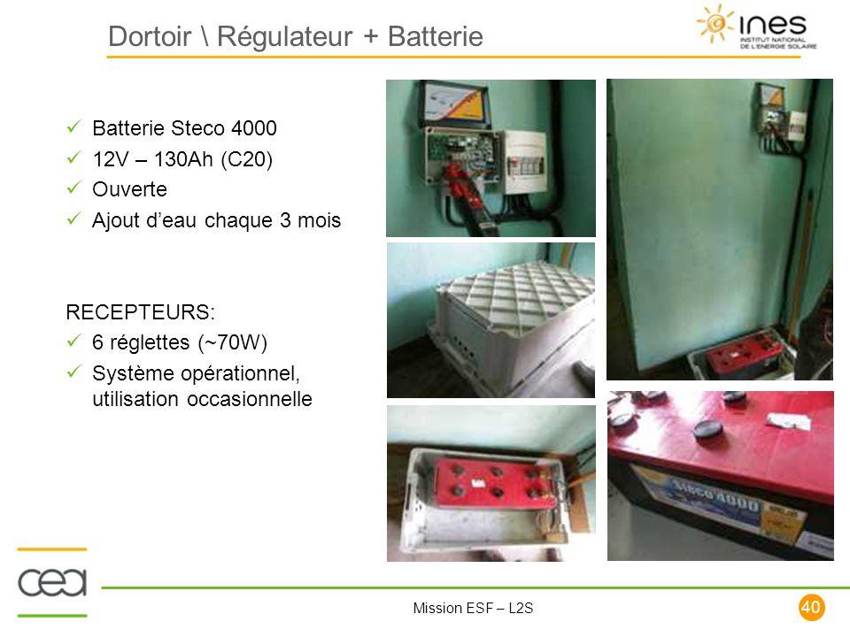 Dortoir \ Régulateur + Batterie