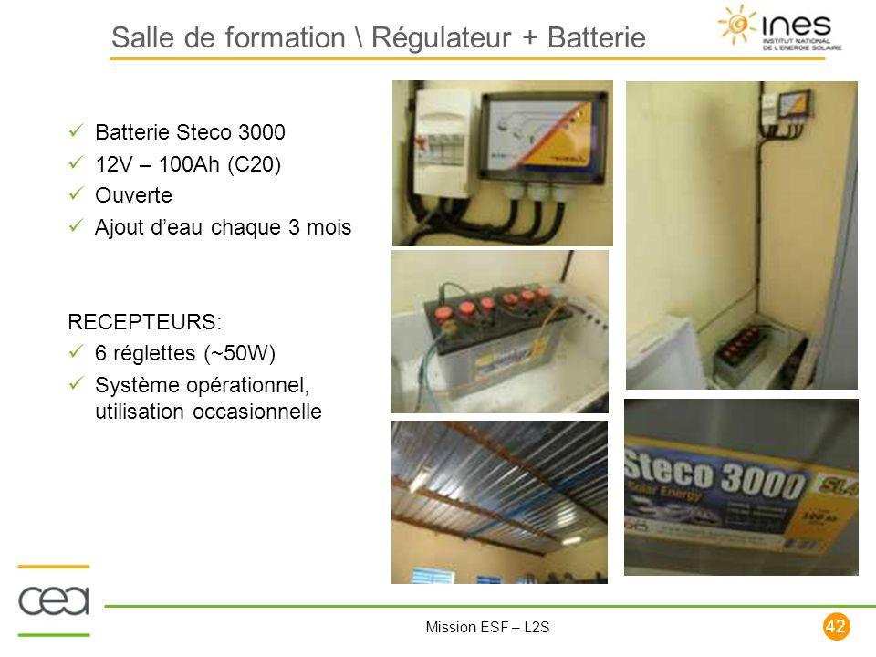 Salle de formation \ Régulateur + Batterie