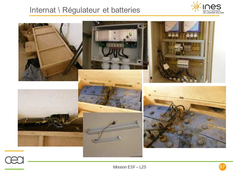Internat \ Régulateur et batteries