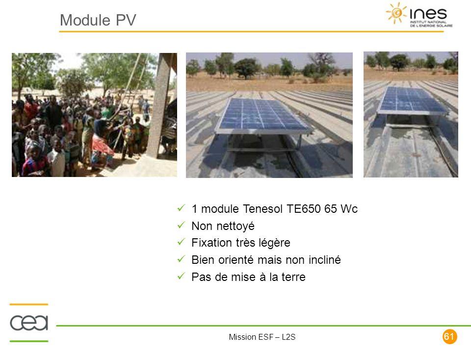 Module PV 1 module Tenesol TE650 65 Wc Non nettoyé
