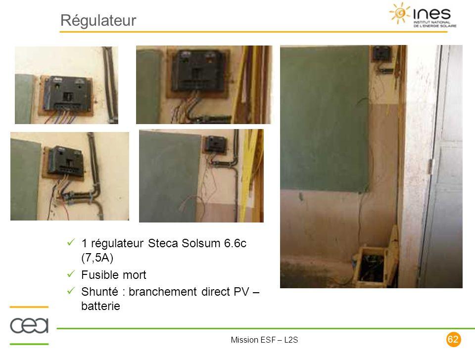 Régulateur 1 régulateur Steca Solsum 6.6c (7,5A) Fusible mort