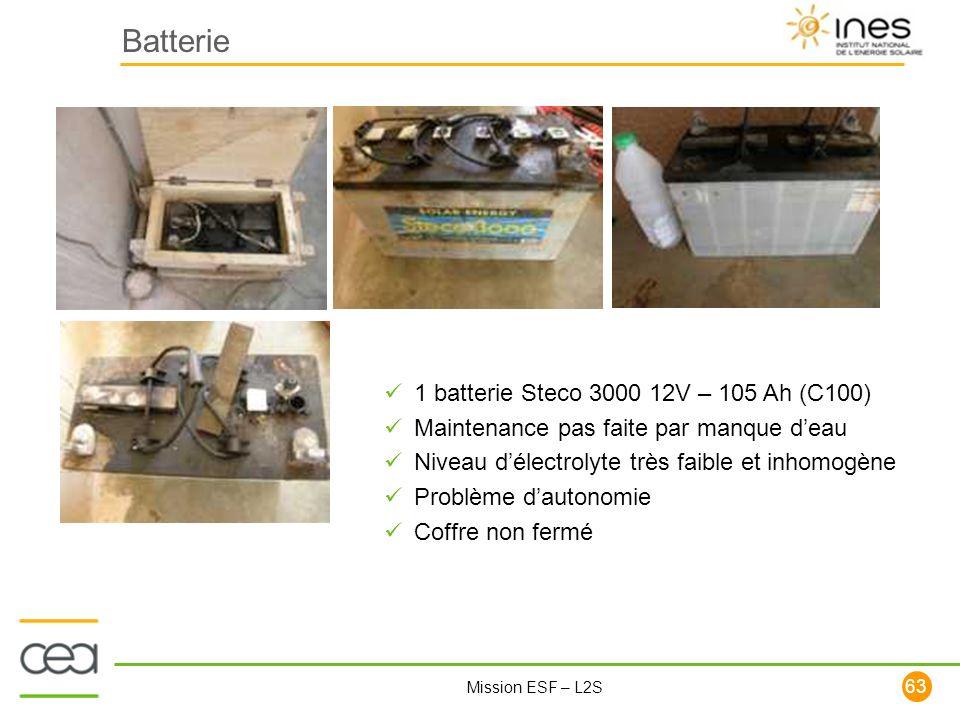 Batterie 1 batterie Steco 3000 12V – 105 Ah (C100)