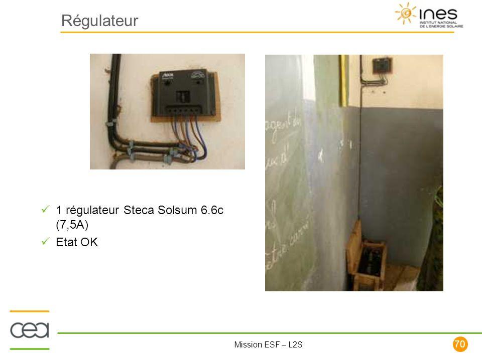 Régulateur 1 régulateur Steca Solsum 6.6c (7,5A) Etat OK