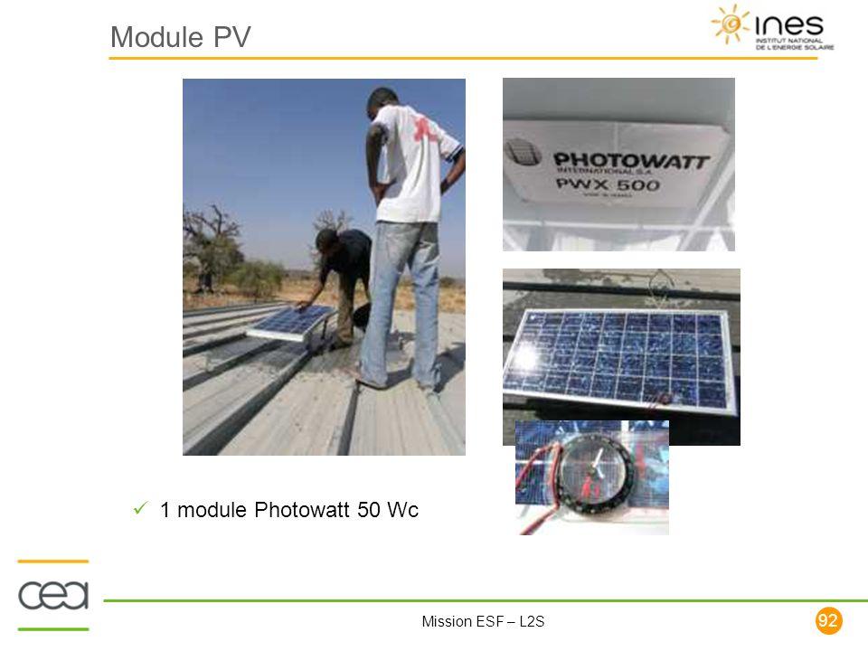 Module PV 1 module Photowatt 50 Wc