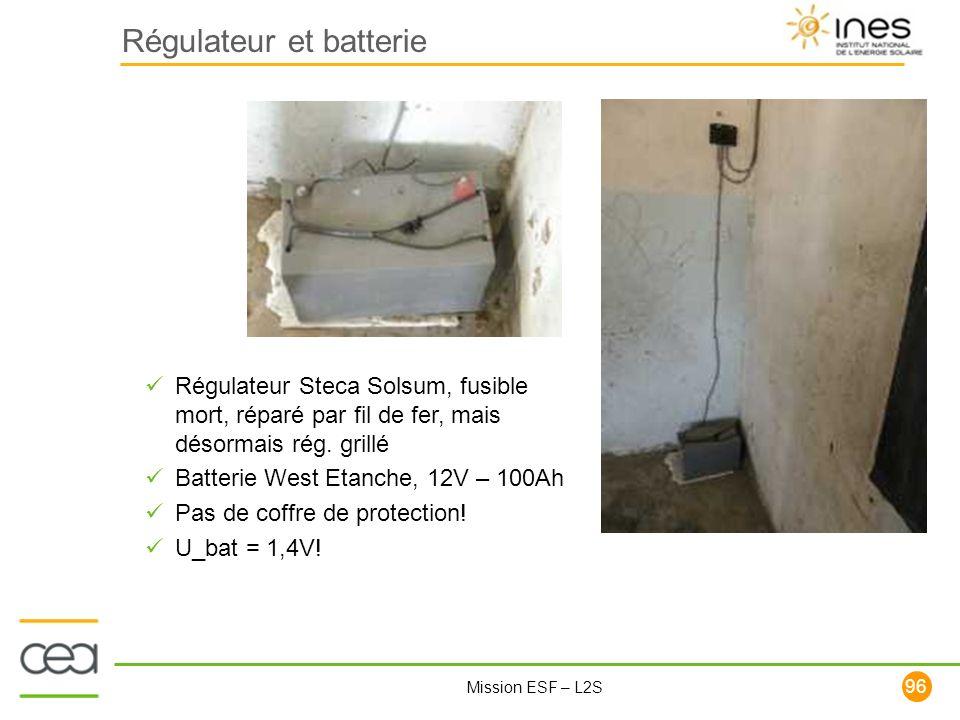 Régulateur et batterie