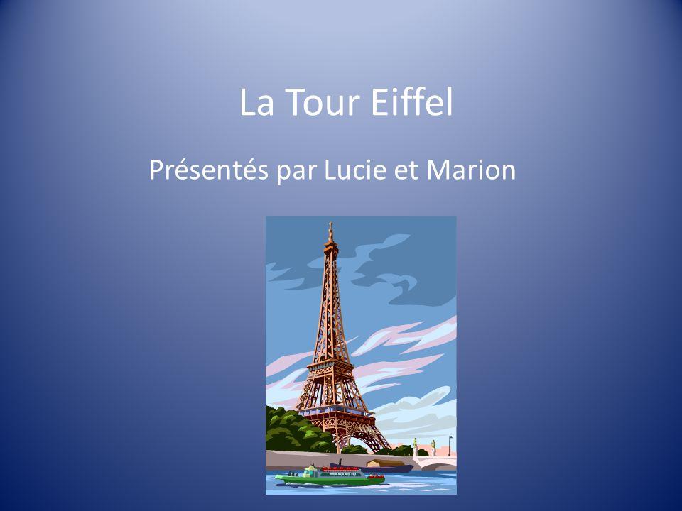 Présentés par Lucie et Marion