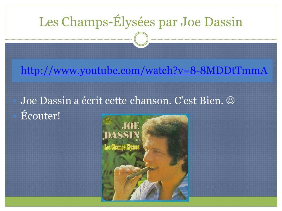Les Champs-Élysées par Joe Dassin