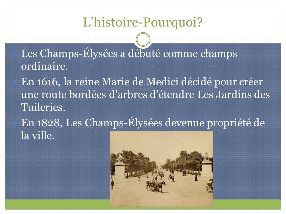 L'histoire-Pourquoi Les Champs-Élysées a débuté comme champs ordinaire.