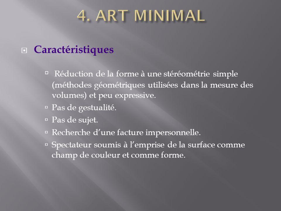 4. ART MINIMAL Caractéristiques