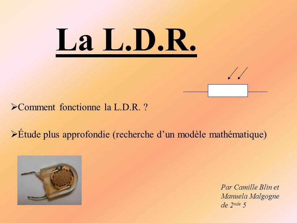 La L.D.R. Comment fonctionne la L.D.R.