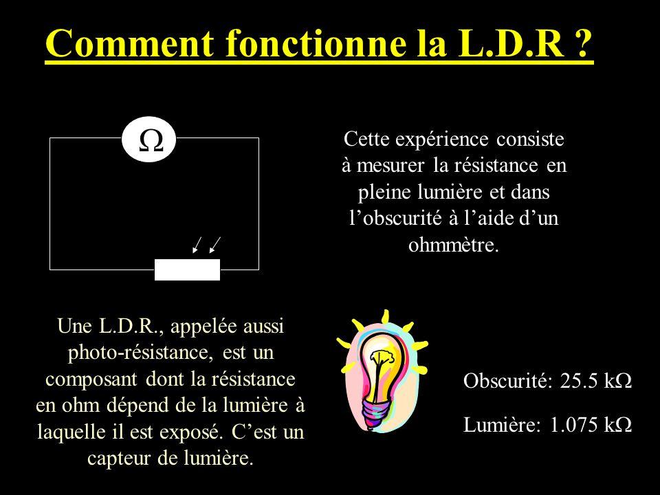 Comment fonctionne la L.D.R