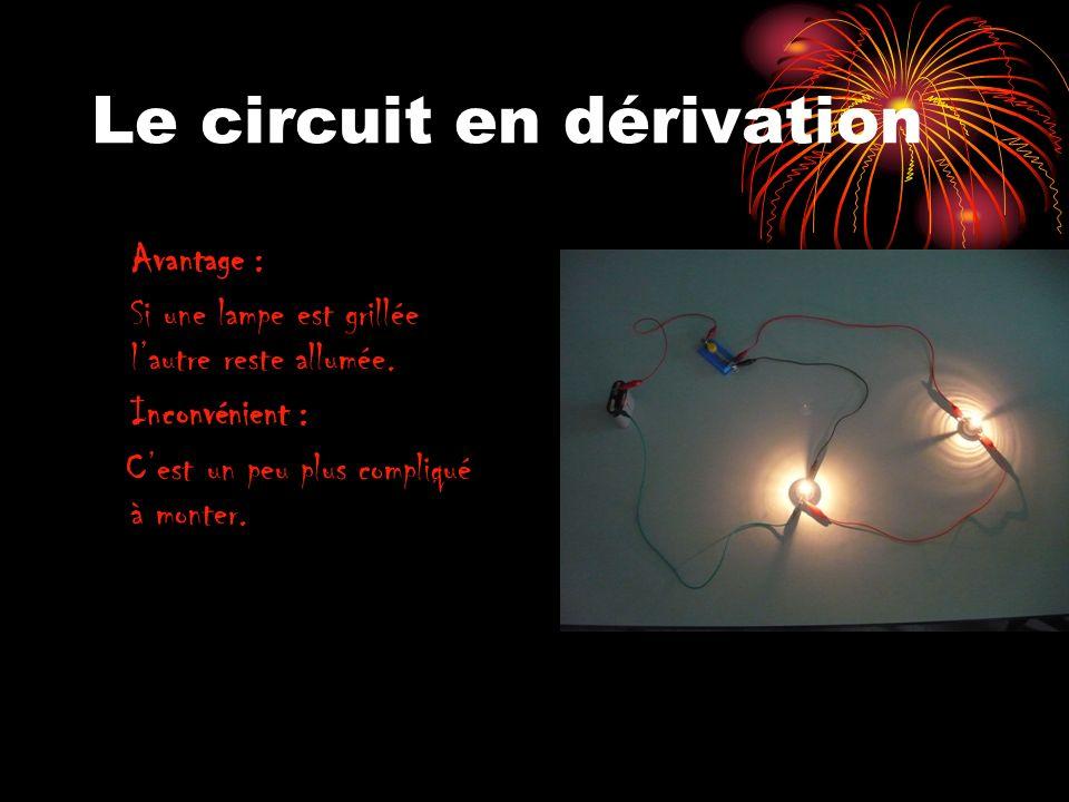 Le circuit en dérivation