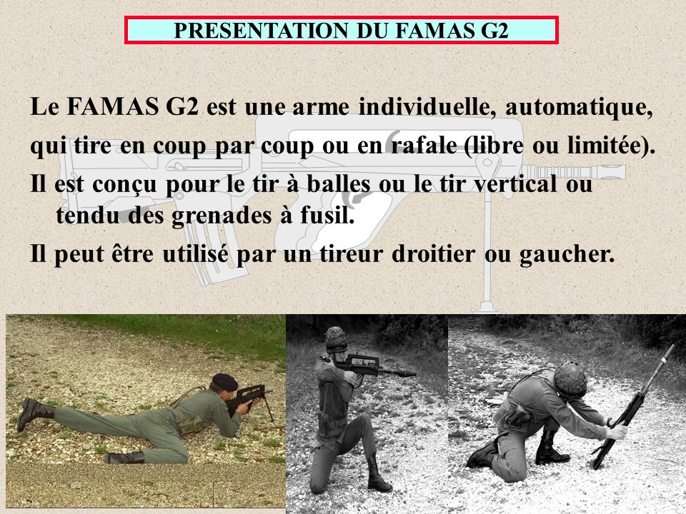 PRESENTATION DU FAMAS G2