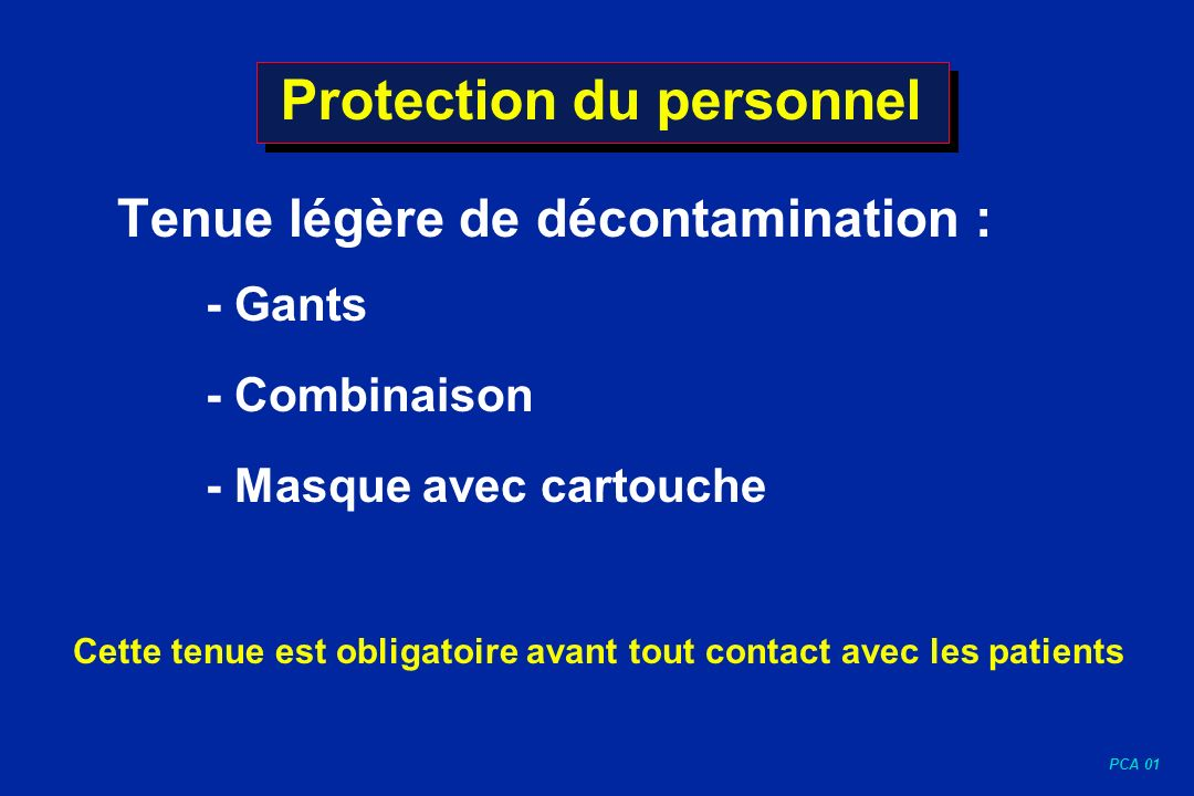 Protection du personnel