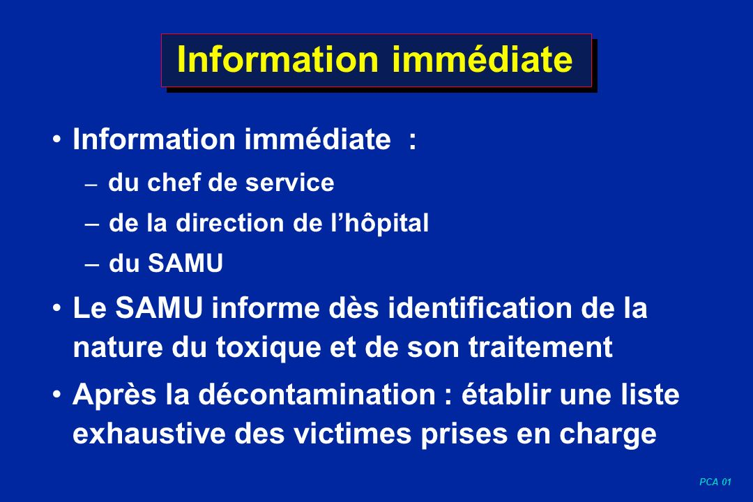 Information immédiate