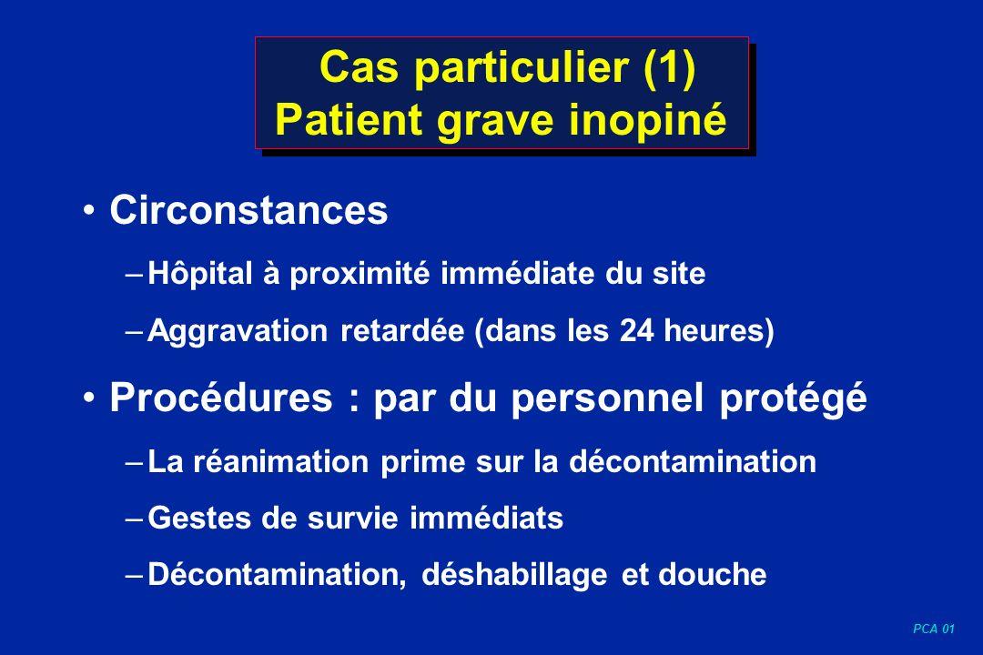 Cas particulier (1) Patient grave inopiné