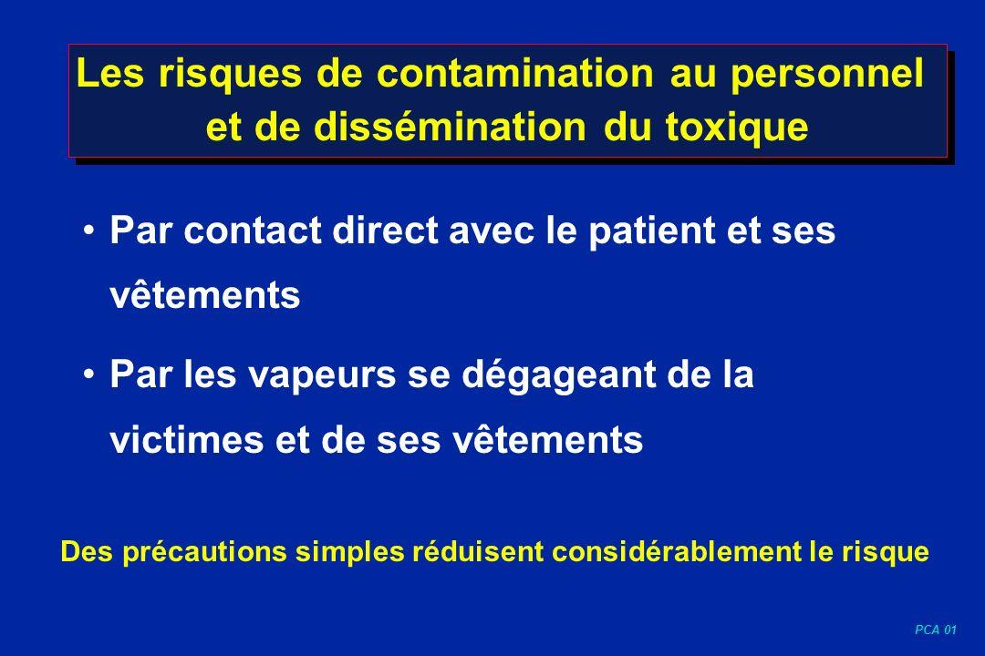 Les risques de contamination au personnel et de dissémination du toxique