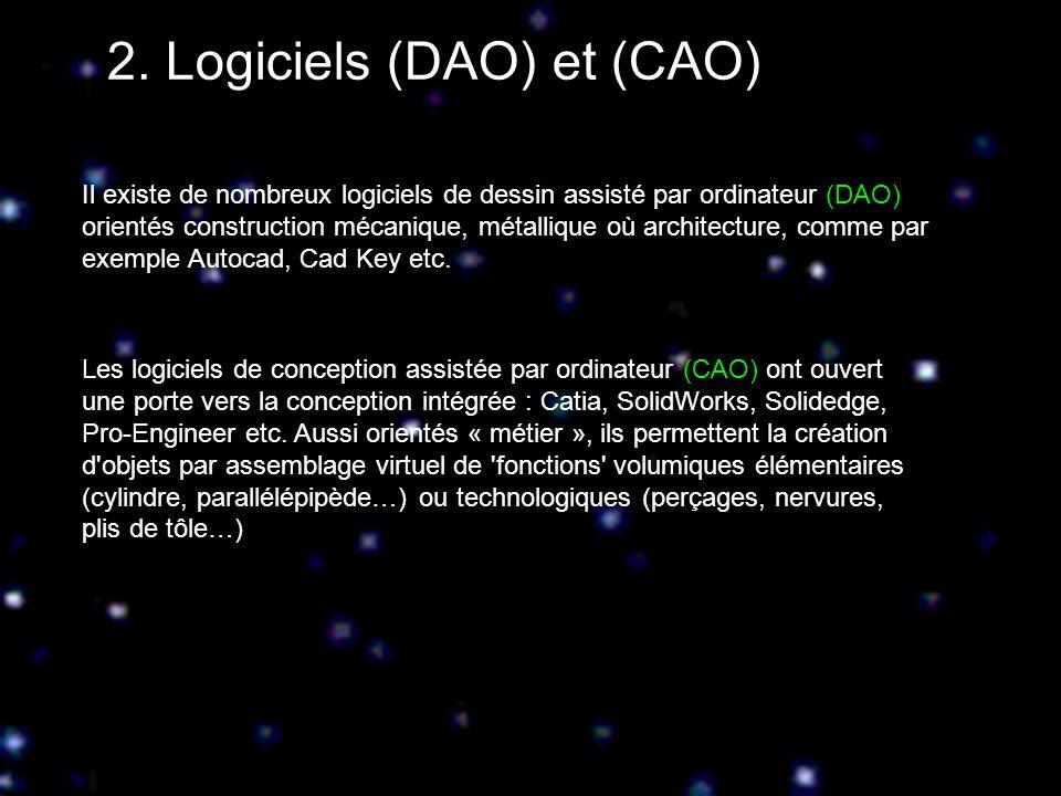 2. Logiciels (DAO) et (CAO)