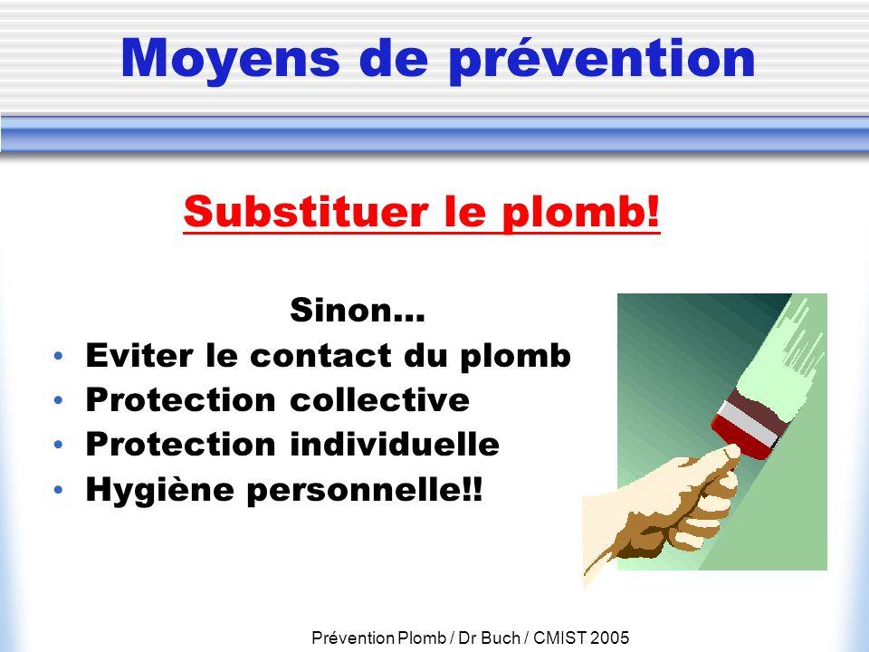 Prévention Plomb / Dr Buch / CMIST 2005