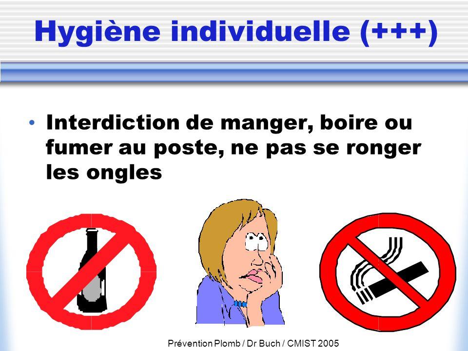 Hygiène individuelle (+++)