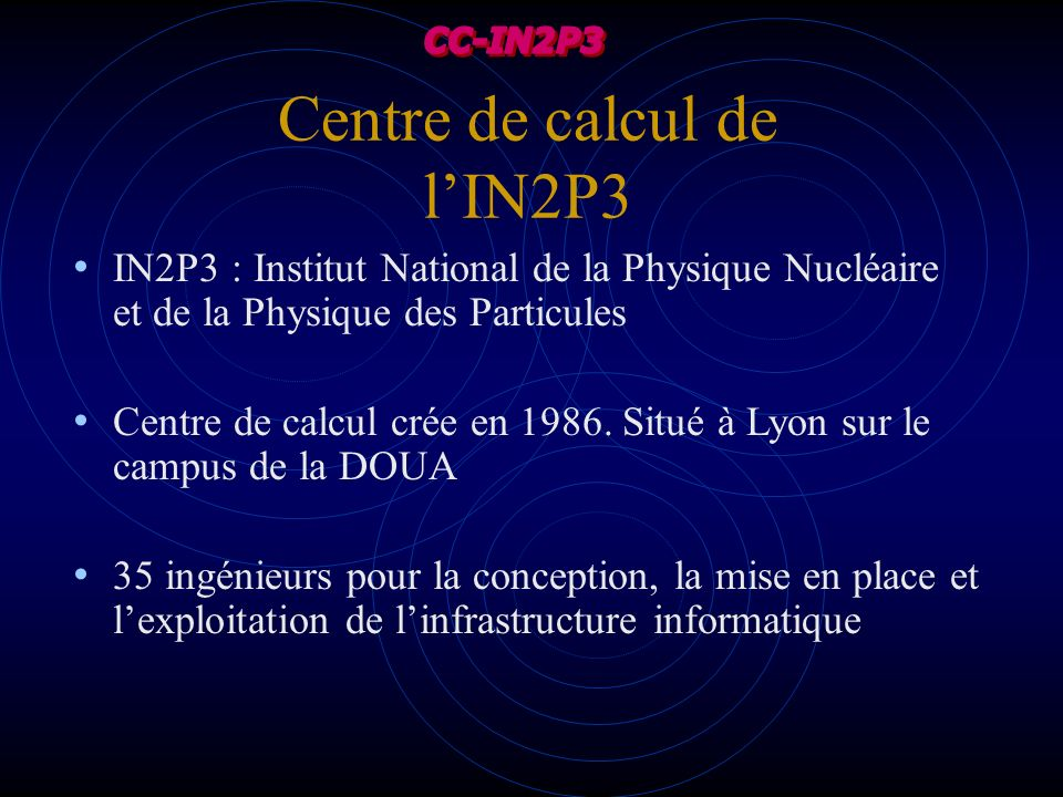 Centre de calcul de l'IN2P3