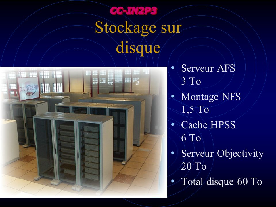 Stockage sur disque Serveur AFS 3 To Montage NFS 1,5 To