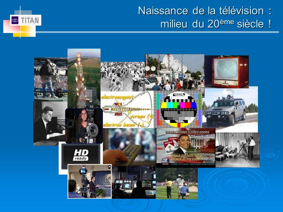 Naissance de la télévision : milieu du 20ème siècle !