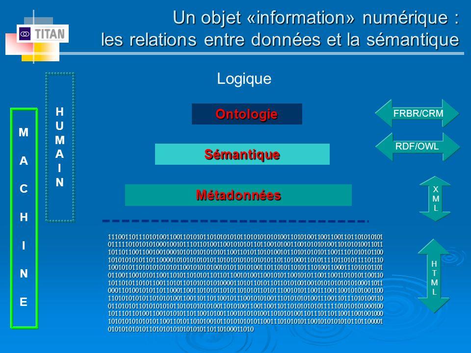 Un objet «information» numérique :