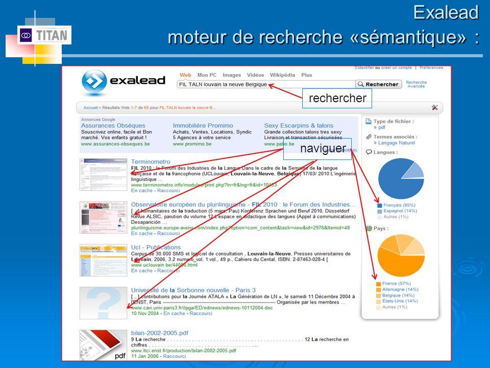 Exalead moteur de recherche «sémantique» :